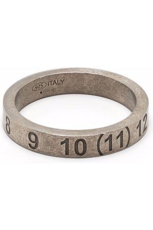 Maison Margiela Mænd Ringe - Numbers-motif band ring