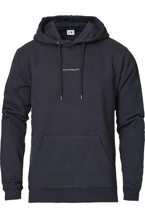 NN07 Mænd Sweatshirts - Barrow Printed Hoodie Navy Blue