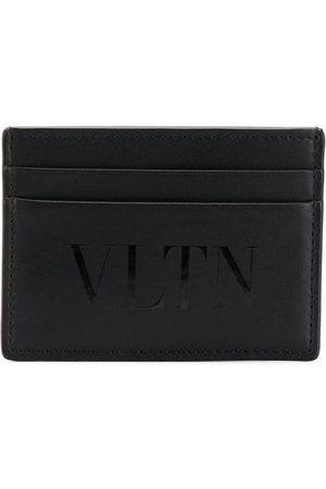 VALENTINO GARAVANI Mænd Punge - VLTN logo kortholder i læder med et trykt logo midtpå, flere pladser til kort og et præget logostempel indvendigt.