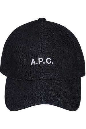 A.P.C. Kvinder Kasketter - Embroidered Logo Cotton Denim Cap