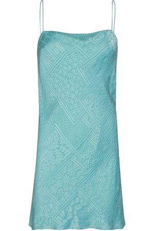 ROTATE Line Viscose Blend Satin Slip Mini Dress