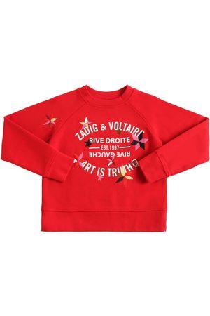 ZADIG&VOLTAIRE Printed & Embroidered Cotton Sweatshirt