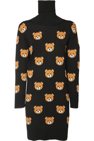 Moschino Intarsia Teddy Wool Knit Dress