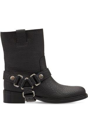 Miu Miu 40mm Leather Biker Boots