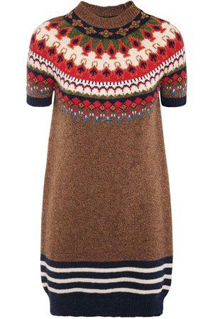 Dsquared2 Jacquard Wool Knit Mini Dress