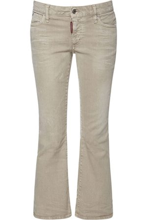 Dsquared2 Cropped Bell Bottom Denim Jeans