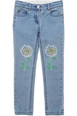 Stella McCartney Embroidered Stretch Cotton Jeans