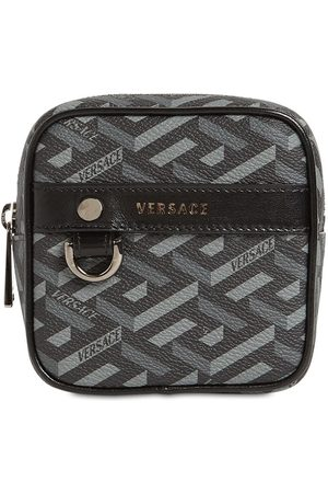 VERSACE Monogram Coated Canvas Coin Purse