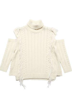 MONNALISA Wool Blend Knit Sweater
