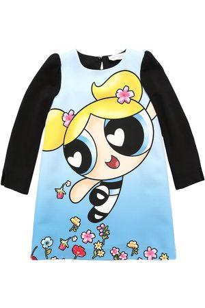 MONNALISA Powerpuff Girls Print Crepe Dress
