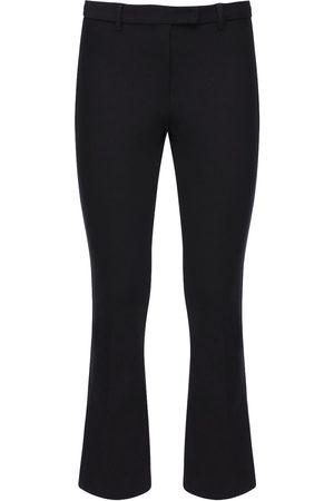 Max Mara Kvinder Trekvartbukser - Cropped Stretch Cotton Twill Pants