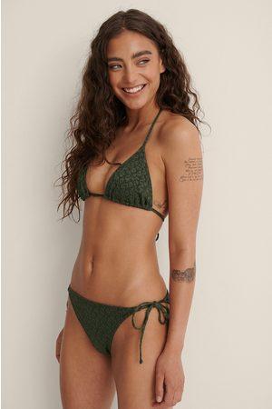 NA-KD Swimwear Bikinitrusse Med Bindebånd I Siden