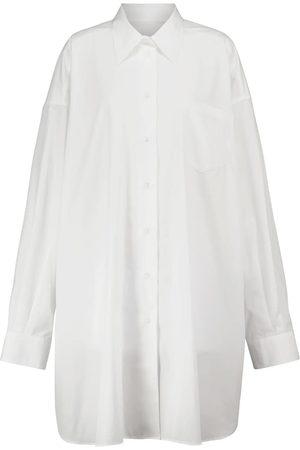Maison Margiela Oversized cotton shirt dress