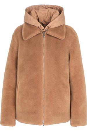 Loro Piana Kvinder Jakker - Reversible shearling cashmere and silk jacket
