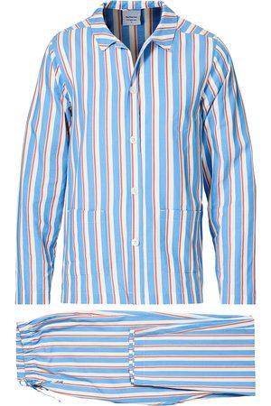 Nufferton Mænd Pyjamas - Uno Mini Striped Pyjama Set Navy/White