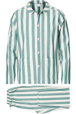 Nufferton Mænd Pyjamas - Uno Striped Pyjama Set Green/White