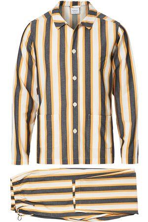 Nufferton Mænd Pyjamas - Uno Triple Striped Pyjama Set Yellow/Blue
