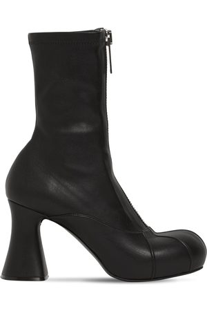 Stella McCartney 80mm Groove Faux Leather Ankle Boots