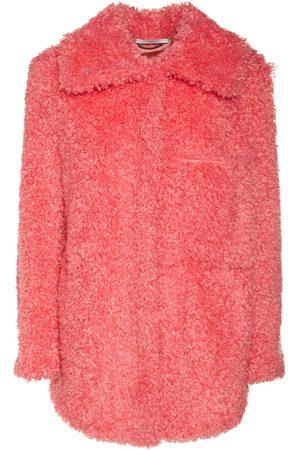STELLA MCCARTNEY Faux Fur Oversized Short Coat