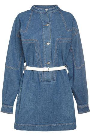 Stella McCartney Kvinder Festkjoler - Cotton Denim Vintage Wash Mini Dress