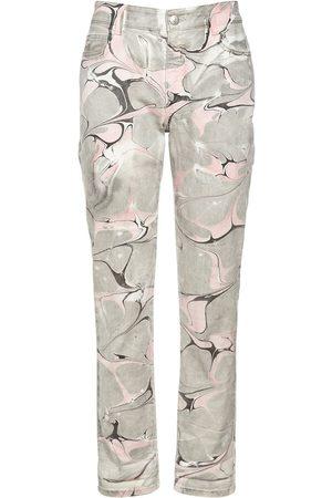 STELLA MCCARTNEY Marble Wash Cotton Denim Jeans