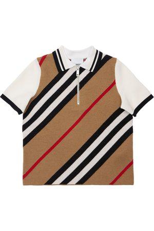 Burberry Drenge Poloer - Merino Wool Blend Polo Shirt