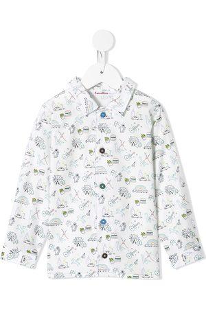 Familiar Drenge Langærmede skjorter - Skjorte med krusedulle-tryk