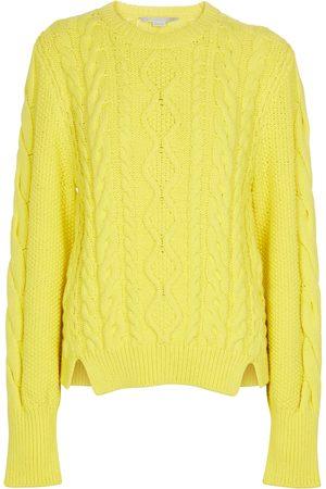 Stella McCartney Kvinder Strik - Cotton-blend aran sweater