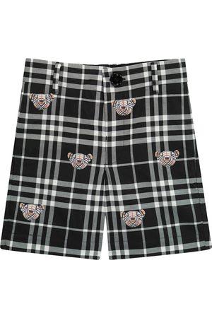 Burberry Drenge Shorts - Thomas Bear checked cotton shorts