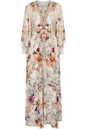 Camilla Embellished printed silk maxi dress