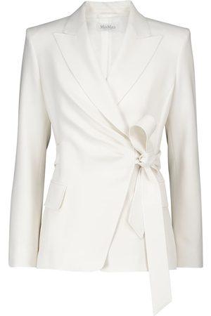 Max Mara Lorenza stretch-wool wrap blazer