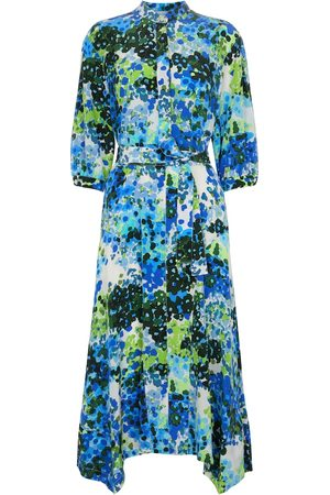 Stella McCartney Olivia floral silk shirt midi dress