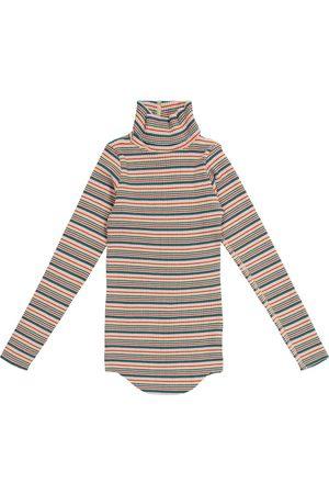 Molo Striped stretch-cotton turtleneck sweater