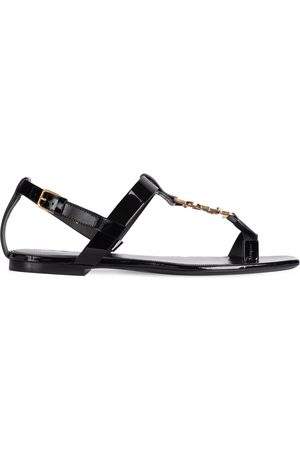 SAINT LAURENT Kvinder Sandaler - 10mm Cassandra Patent Leather Sandals