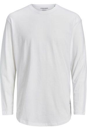 JACK & JONES Mænd Langærmede - Økologisk Bomuld Langærmet T-shirt Mænd White