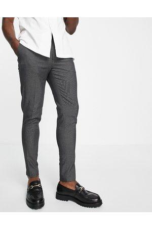 ASOS DESIGN Mænd Chinos - Super skinny elegante bukser med grå pin-prikker