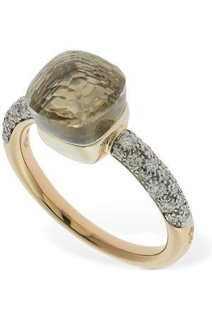 POMELLATO Nudo Petit 18kt Ring W/ Topaz & Diamond