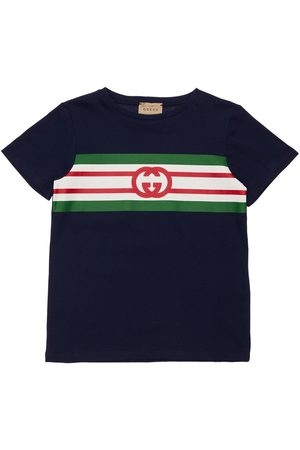 Gucci Gg Logo Print Jersey T-shirt
