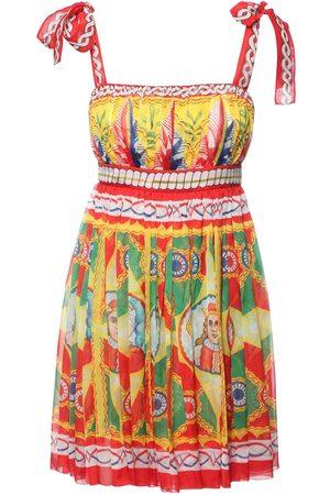 Dolce & Gabbana Carretto Print Silk Chiffon Mini Dress