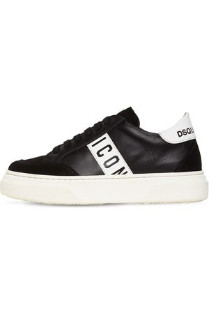 DSQUARED2 Icon Lace-up Leather & Suede Sneakers