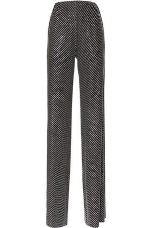 ALEXANDRE VAUTHIER Microcrystal Diagonal Jersey Pants