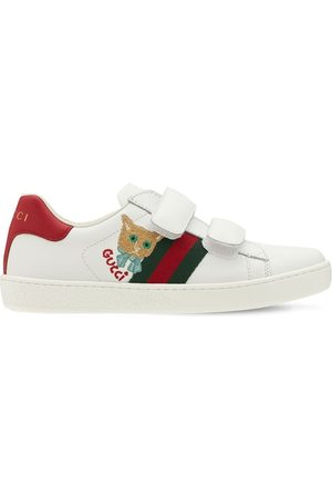 GUCCI Leather Strap Sneakers