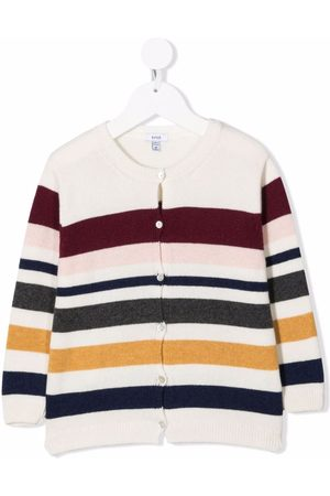KNOT Striped knitted cardigan