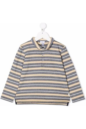KNOT Striped-pattern polo shirt