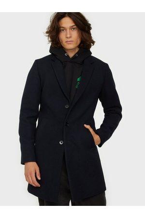 Jack & Jones Jjemoulder Wool Coat Sts Jakker & frakker Dark Navy