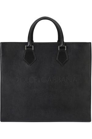 Dolce & Gabbana Tote i læder med logoprægning