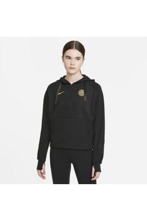 Nike Inter Milan-fodboldhættetrøje med lynlås i kvart længde til kvinder