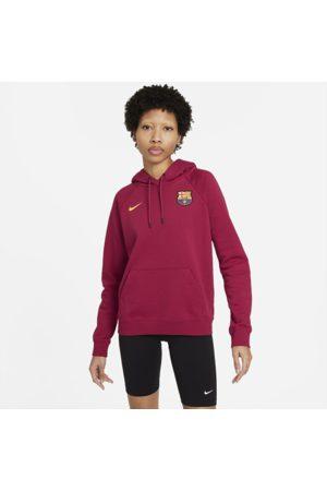 Nike FC Barcelona pulloverhættetrøje i fleece til kvinder