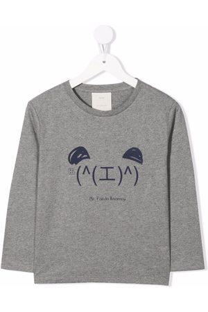 KNOT Drenge Langærmede - Langærmet Kaomoji T-shirt
