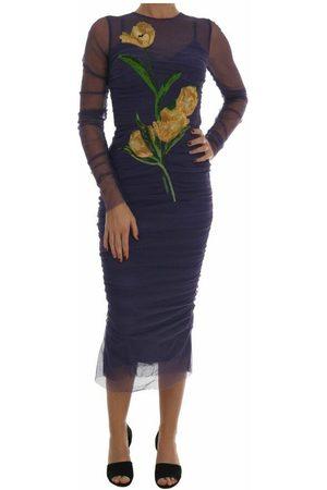 Dolce & Gabbana Floral Tulip Stretch Sheath Dress